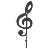 Black Treble Clef Single Wall Hook